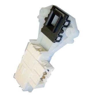 Замок люка (двери) стиральной Ariston Indesit (Белый длинный с Т-блочком) C00085194