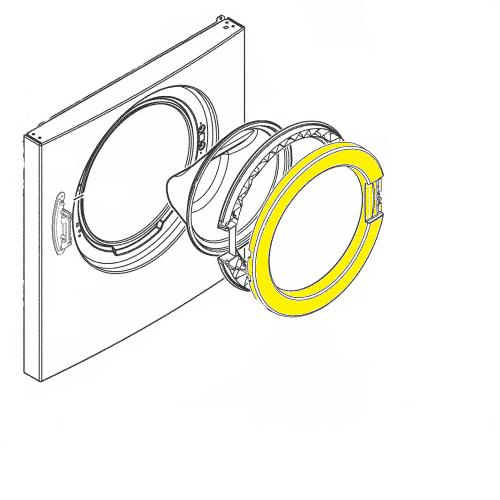1324293404 Обечайка люка для стиральных машин Electrolux